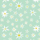 Daisy on mint by Vicky Webb