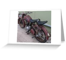 Old Moped Greeting Card