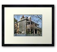 House Circa late 1880's - Williamstown, Vic. Framed Print