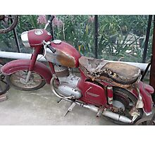 Old Moped Photographic Print