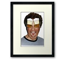 Will Ferrell beer glasses Framed Print