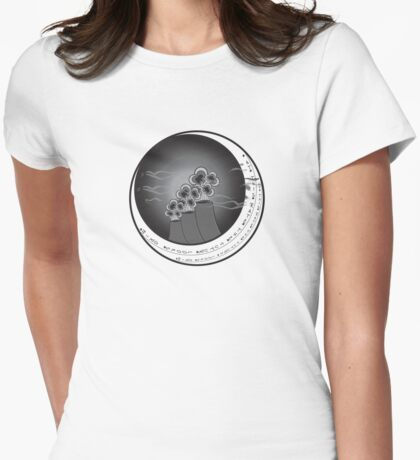 at this rate the future looks grim Womens Fitted T-Shirt