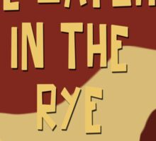 Catcher In The Rye - Vintage Movie Poster Style Sticker