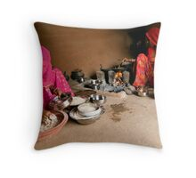 Cooking. Rajasthan Throw Pillow