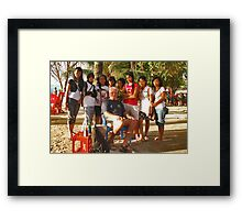 After the interview.... Framed Print