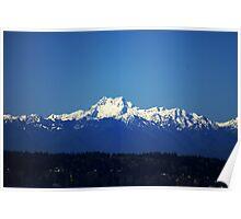 Olympic Mountain Range Poster