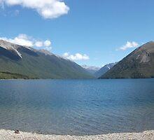 Sunny Lake Mountain Panorama by JeremyFogg