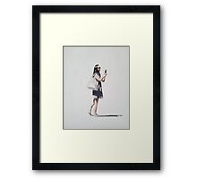 Girl with Bare Feet Framed Print