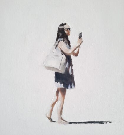 Girl with Bare Feet Sticker