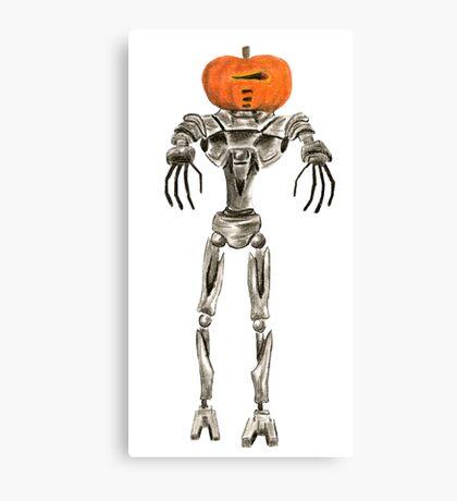 Halloween Cylon: Pumpkinhead Canvas Print