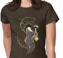 Grungy Geisha Swirly Twirl Womens Fitted T-Shirt