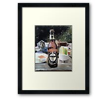 Beer Al Fresco Framed Print