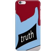 I found the truth....outside the soccer World Cup stadium in Brazil where  many live a life of poverty and crime. iPhone Case/Skin