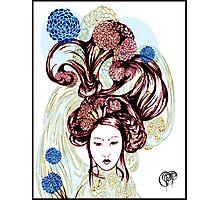 Asian American Kissaeng -Red Mumms Photographic Print