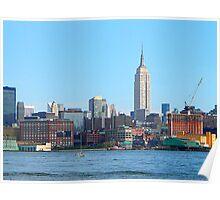 Manhattan Skyline Seen from Hoboken, NJ Poster