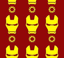 Iron Man - Minimalistic Yellow Figure (Pattern) by TylerMellark