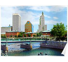 View From Waterplace Park Poster