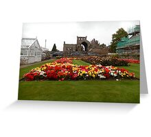 View of the Abbey Gardens, Melrose Greeting Card
