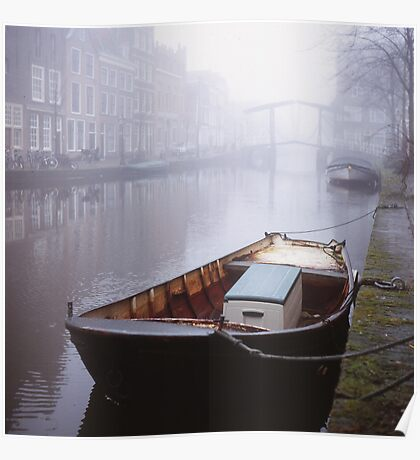 Canal In The Mist Poster
