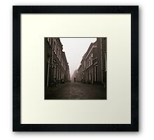 Cyclist In The Mist Framed Print