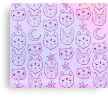 Pink Kitty Mystics Canvas Print