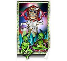 Martians Pondering God and God Laughed Poster