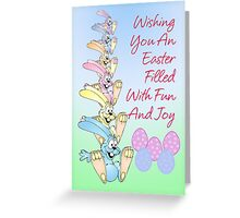 Easter Bunny Card Easter Eggs Greeting Card