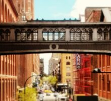 A view from the High Line, New York City Sticker
