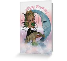 Birthday Card With Fairy Kissing Frog Greeting Card