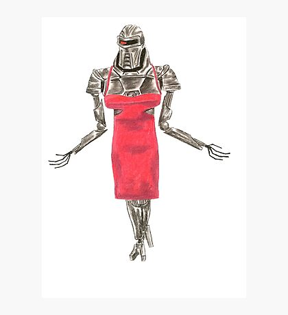 Red Dress Cylon Photographic Print