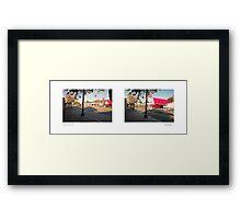Colorado Boulevard + Mount Royal Drive, Eagle Rock, Los Angeles, California, USA...narrowed. Framed Print