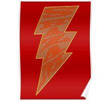 Shazam Red Poster