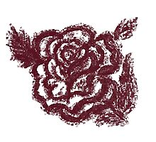 Grunge Rose Sketch Photographic Print