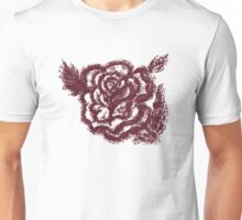 Grunge Rose Sketch Unisex T-Shirt