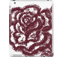 Grunge Rose Sketch iPad Case/Skin