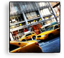 New York City Taxi Cabs Canvas Print