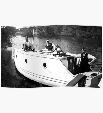 Boating on the River Ouse-York -1940's Poster