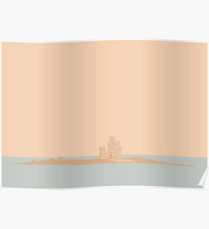 Manx Castles in Sand - Tower of Refuge Poster