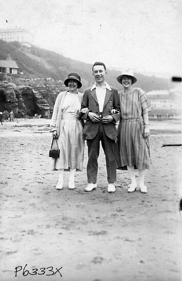 On The Beach - Scarborough  1930's. by Trevor Kersley