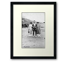 On The Beach - Scarborough  1930's. Framed Print