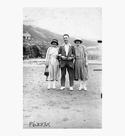 On The Beach - Scarborough  1930's. Photographic Print