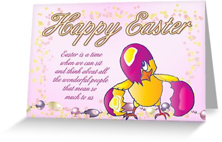Happy Easter With Chick  by Moonlake