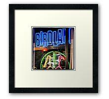 Birdland Neon, NYC Framed Print