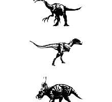 Three Dinosaurs by tambet