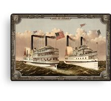 Two Steamboat on Sea. Age of Steam #006 Canvas Print
