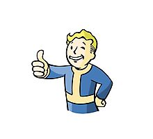 Fallout Vault Boy Photographic Print