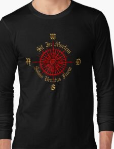 """PC Gamer's Compass - """"Death is Only the End of the Game"""" Long Sleeve T-Shirt"""