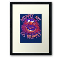 Puppet Law Parody Framed Print