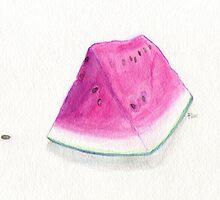 Summertime Watermelon by Roz Abellera Art Gallery