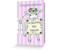 Congratulations On Becoming New Parents Card Greeting Card